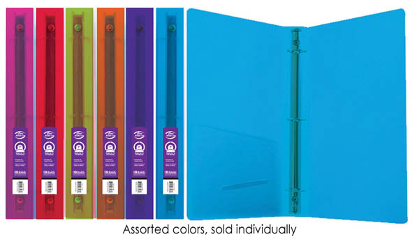 "Binder - 3-Ring Glitter 1"" (assorted colors)"