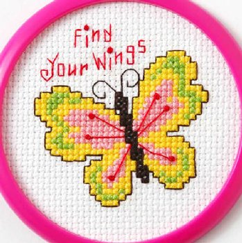 "My 1st Stitch Mini Kit - Find Your Wings (3"")"