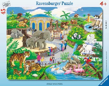 Visit to the Zoo Frame Puzzle (45 pieces)