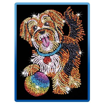 Sequin Art Blue Puppy