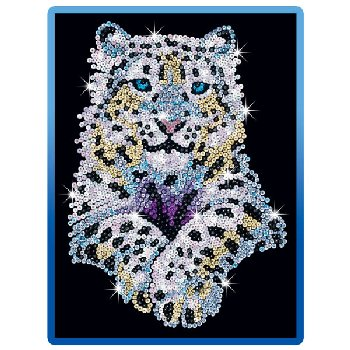 Sequin Art Blue Snow Leopard