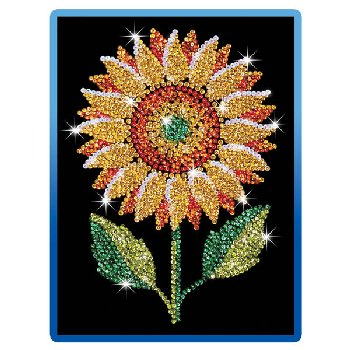 Sequin Art Blue Sunflower