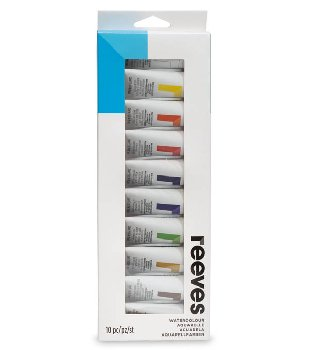 Reeves Water Colour 10-Tube (22 ml/tube) set
