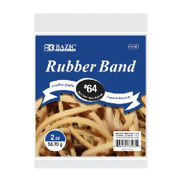 "Rubber Bands - #64 (3.5"" x .25"")"