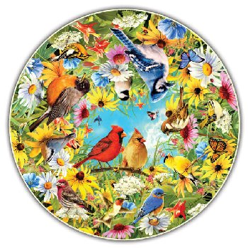 Backyard Birds 500 Piece Puzzle (Round Table Collection)