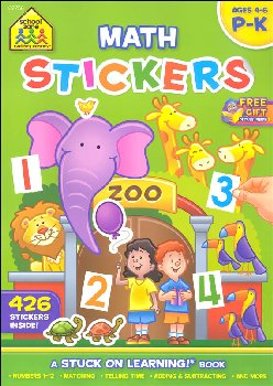 Math Stickers Workbook (Stuck on Learning!)