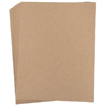 "Chipboard Sheets (pack of 10) 8.5"" x 11"""