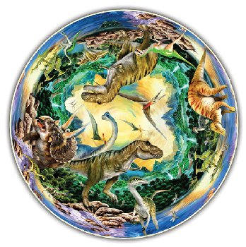 Prehistoric World 500 Piece Puzzle (Round Table Collection)