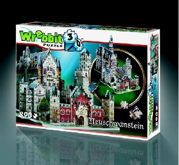 Neuschwanstein Castle 3D Puzzle (890 pieces)
