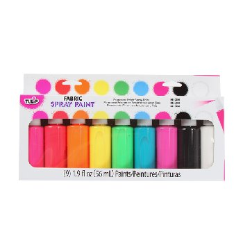 Fabric Spray Paint - Neon (9 pack)