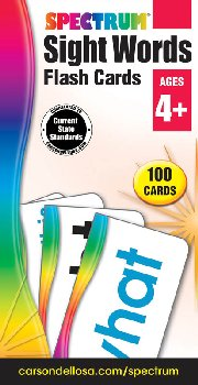Spectrum Sight Words Flash Cards