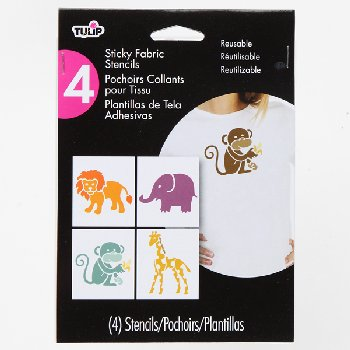 Small Sticky Fabric Stencil - Design Zoo Animals