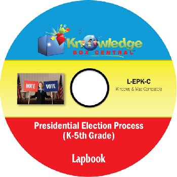 Presidential Election Process Lapbook for Grades K-5 CD-ROM