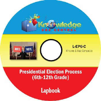 Presidential Election Process Lapbook for Grades 6-12 CD-ROM