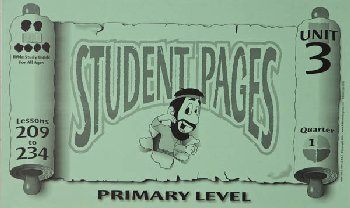 Primary Student Pages for Lessons 209-234