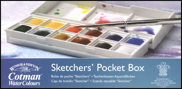 Sketcher's Pocket Box Set (Cotman Watercolor)