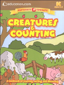 Creatures and Counting Coloring Book (Education.com Workbooks)