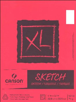 "Canson XL Series Sketch Pad, 9"" x 12"",125 Sheets"