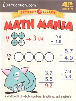 Math Mania Workbook (Education.com Workbooks)