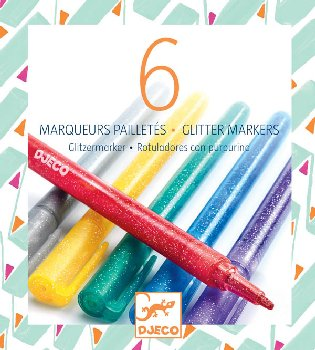 Glitter Markers (Pack of 6)