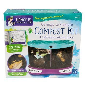 Garbage to Gardens Compost Kit & Decomposition Book (Nancy B's Science Club)