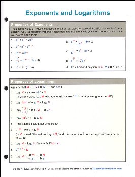 Exponents and Logarithms Quick Reference Guide