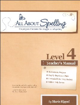 All About Spelling Level 4 Teacher's Manual