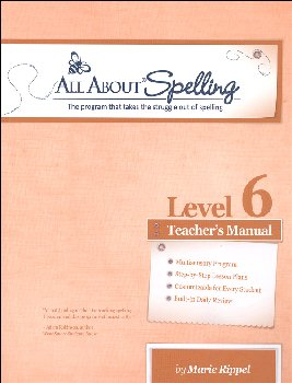 All About Spelling Level 6 Teacher's Manual