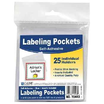 Labeling Pockets Self-Adhesive (25/package)