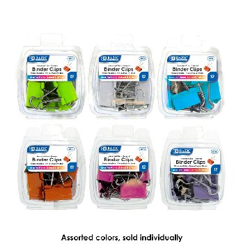 Binder Clips: Assorted Colors and Sizes (8/Pack)