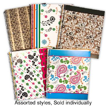 Creation Series Three Section Notebook (Assorted Design)