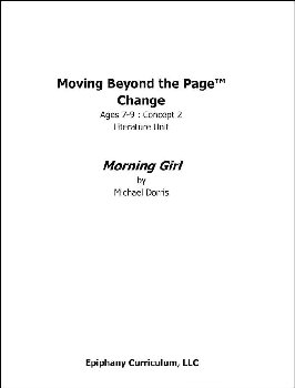 Morning Girl - Additional Set of Student Activity Pages
