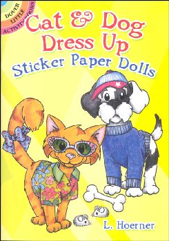 Cat & Dog Dress Up Sticker Paper Dolls
