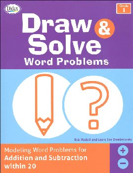 Draw & Solve Word Problems: Grade 1