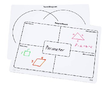 Write-On/Wipe-Off Frayer Model & Venn Diagram Mat