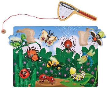 Magnetic Wooden Bug Catching Game