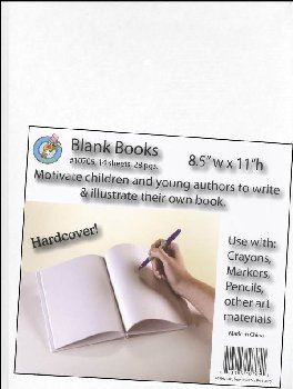 "Blank Book (White, Hardcover) 8.5"" x 11"""