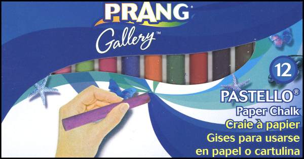 Prang Pastello Paper Chalk - 12 Color Box