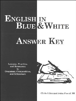 English in Blue & White Answer Key