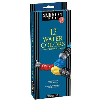 Watercolor 12 Tube Paint Set