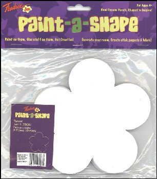 Flowers Paint-a-Shape 3-Pack