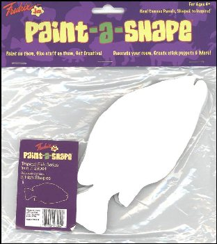 Tropical Fish Paint-a-Shape 3-Pack