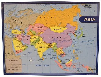 Asia Map Chart