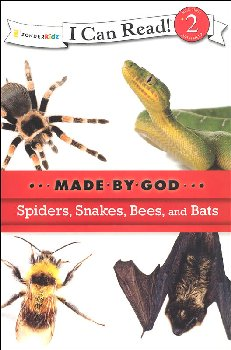 Spiders, Snakes, Bees, and Bats-Made By God (I Can Read! Level 2)