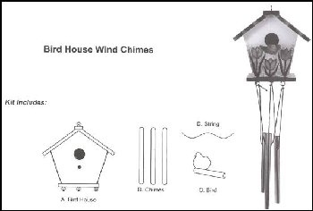 Bird House Wind Chimes Kit