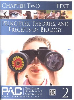 Principles, Theories & Precepts of Biology Chapter 2 Text