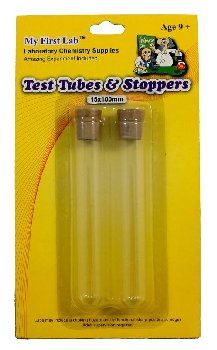 Glass Test Tubes set of 2 with Rubber Stoppers