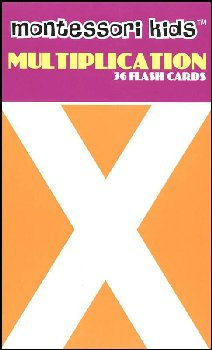 Montessori Flash Cards Multiplication