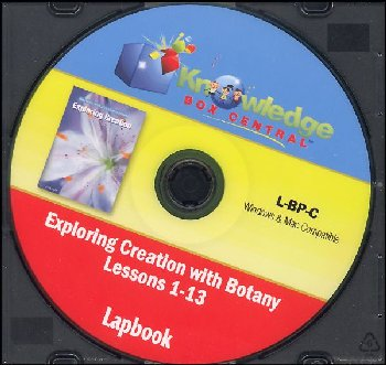 Apologia Exploring Creation With Botany Complete Lapbook Package CD-ROM