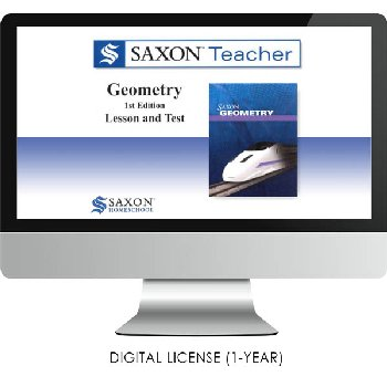 Saxon Math Homeschool Geometry Teacher Digital License 1 Year Digital 1st Edition
